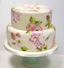 wedding photo - Ручная роспись Свадебные торты ♥ Свадебный торт Design