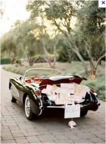 wedding photo - Getaway Classic Wedding Car ♥ Just Married
