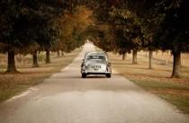 wedding photo - The Getaway Car