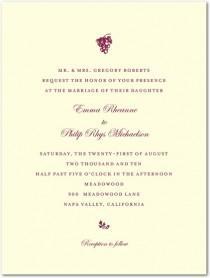 wedding photo - Winery Wedding Invitations