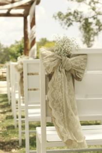 wedding photo - Ceremony Decorations ♥ Wedding Chair Decorations and Ideas