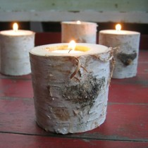 wedding photo - Rustic Candles and Candle Holders