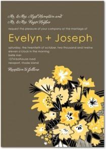 wedding photo - Fantastic Floral Wedding Invitations
