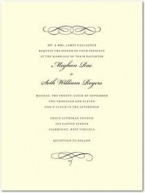 wedding photo - Letterpress Wedding Invitations