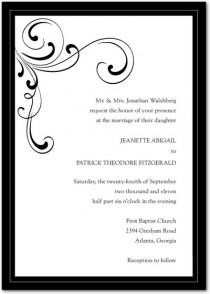 wedding photo - Elegant Wedding Invitations