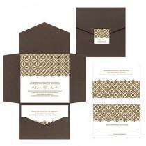 wedding photo - Pocketfold Wedding Invitations