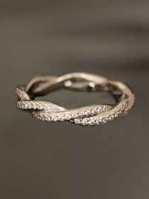 wedding photo - Luxry Diamond Wedding Ring ♥ Perfect Diamond Eternity Ring