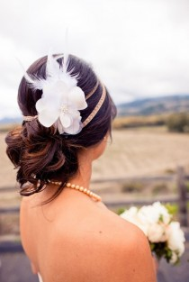 wedding photo - Unique Wedding Hair Ideas  ♥ Rustic Wedding Hairstyle