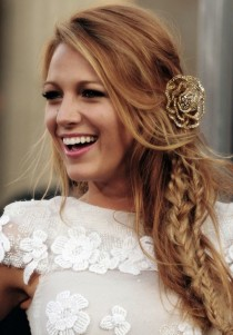wedding photo -  Beach Wedding Bohemian Hairstyle Ideas ♥ Celebrity Messy Side Braid Hairstyle