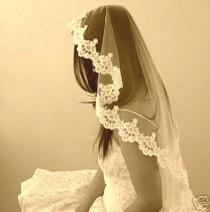 wedding photo - Vintage Wedding Veil Mantilla