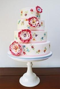 wedding photo -  Cute Rosette Wedding Cakes