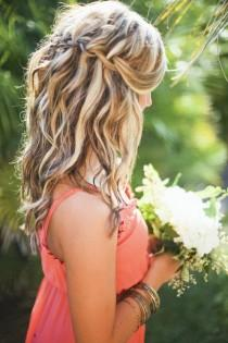 wedding photo - Messy francés Braid peinados de novia de la boda ♥ Inpspiration Cabello