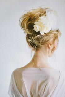 wedding photo - Messy Wedding HairStyles ♥ Wedding Messy Updo Hairstyle