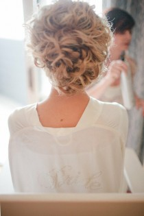wedding photo -  Wedding Wavy Updo Hairstyle | Dalgali Topuz Gelin Topuzu