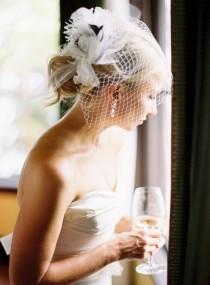 wedding photo - Chic Birdcage Veil