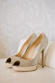 wedding photo - Glitter Leather Wedding Shoes ♥ Jimmy Choo Bridal Shoes Collection