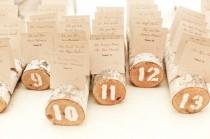 wedding photo -  Kütüklerden Dugun Masa Numara Kartlari