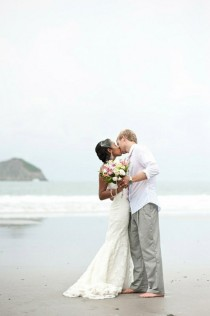 wedding photo - Wedding Kiss Photography ♥ Beach Wedding Photography