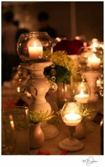 wedding photo -  Shabby Wedding Reception Ideas  ♥ Wedding Light Options