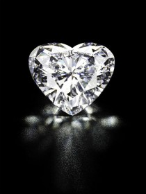 wedding photo -  Heart-shaped diamond