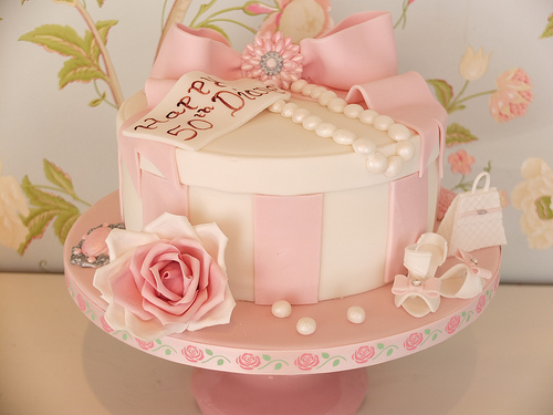 pink cake box wedding cakes wedding cakes pale pink hat box cake 1987915 weddbook 18570