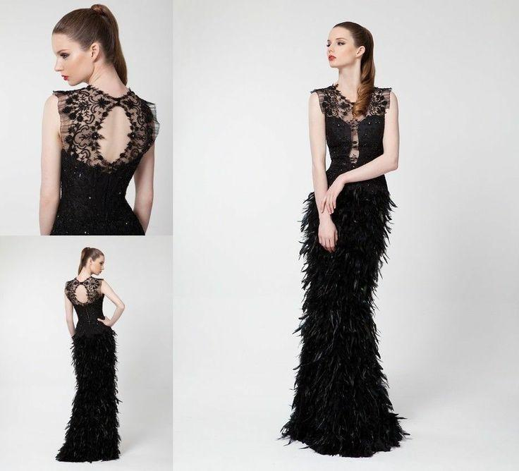 Vestido encaje negro para boda