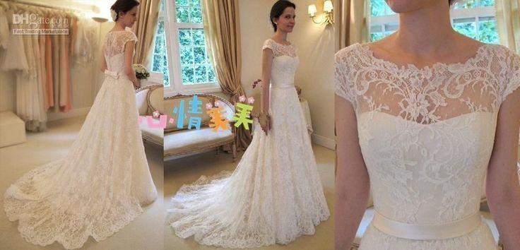 New White Ivory Lace Sweetheart Wedding Dress