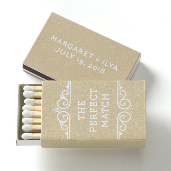 The Perfect Match Personalized Bo 25 Wedding Favors