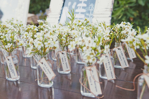 Rustic Vintage Inspired Whimsical Wedding Place Card Favor
