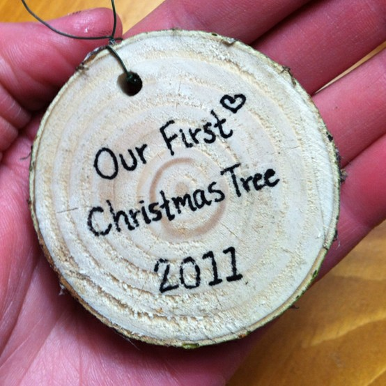 Our First Christmas Tree Ornaments Diy Rustic Ornament
