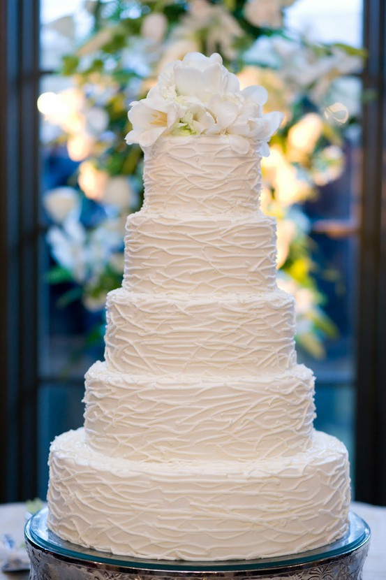 Textured Wedding Cake Design