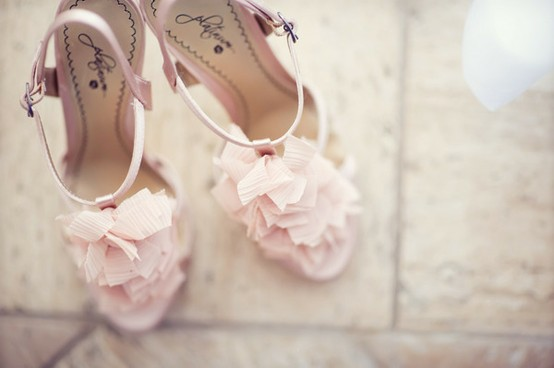 Chic Pale Pink Wedding Sandals